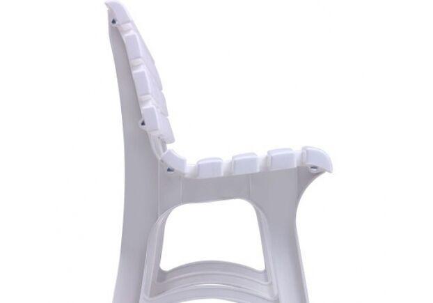 Лавка Atena пластик белый 01 - Фото №2