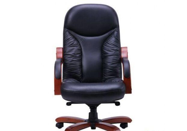 Кресло Буффало НВ коньяк Кожа Люкс комбинированная Черная - Фото №2