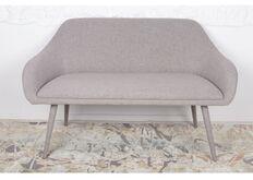 Фото Кресло - банкетка MAIORICA (1310*610*810 текстиль) светло-серый