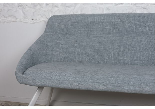 Кресло - банкетка TOLEDO (1550*640*830 текстиль) рогожка бледно-бирюзовый - Фото №2