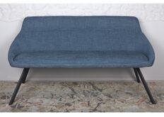 Фото Кресло - банкетка TOLEDO (1550*640*830 текстиль) рогожка темно-голубой