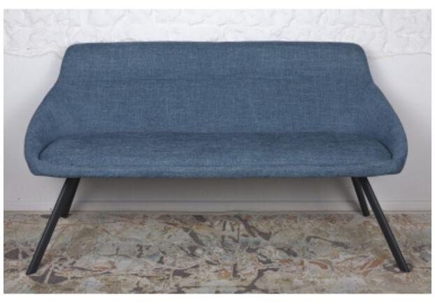 Кресло - банкетка TOLEDO (1550*640*830 текстиль) рогожка темно-голубой - Фото №1