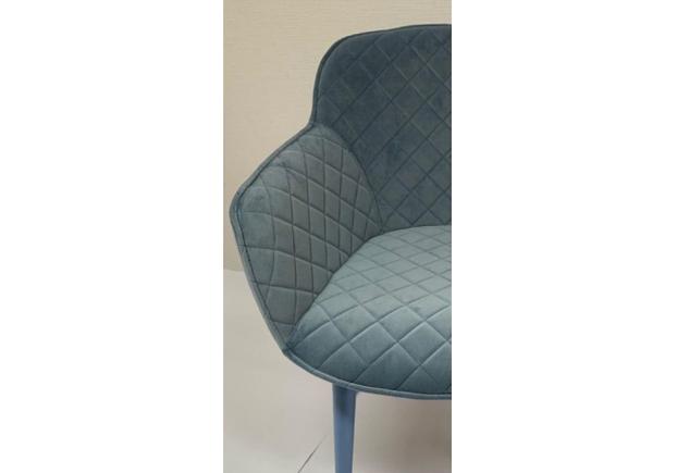Кресло BAVARIA (58*65*80 cm текстиль) голубой - Фото №2