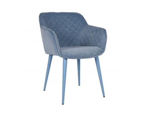 Кресло BAVARIA (58*65*80 cm текстиль) голубой - Фото №1