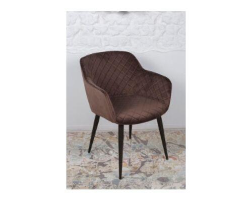 Кресло BAVARIA (58*65*80 cm текстиль) коричневый - Фото №1