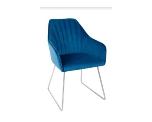 Кресло BENAVENTE (текстиль) синий - Фото №1