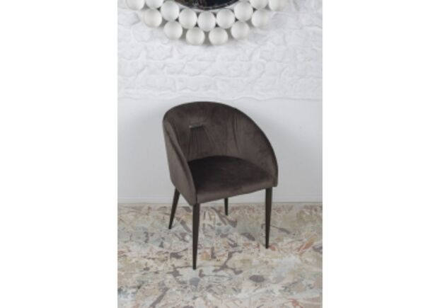 Кресло ELBE (58*59*75 cm текстиль) антрацит - Фото №1