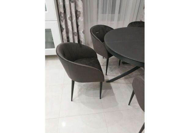 Кресло ELBE (58*59*75 cm текстиль) антрацит - Фото №2