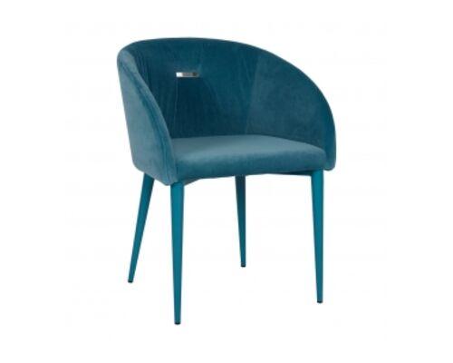Кресло ELBE (58*59*75 cm текстиль) бирюза - Фото №1
