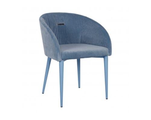 Кресло ELBE (58*59*75 cm текстиль) голубой - Фото №1