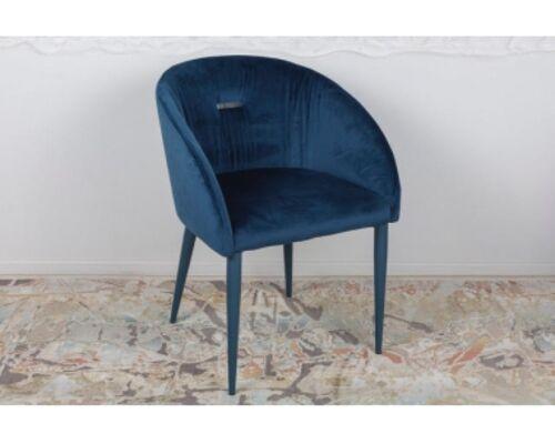 Кресло ELBE (58*59*75 cm текстиль) синий - Фото №1