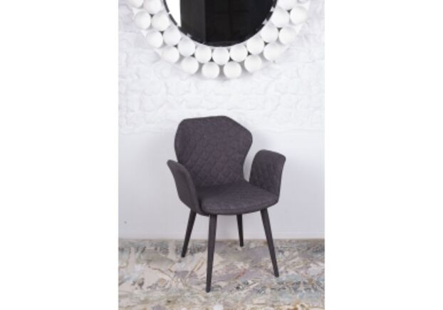 Кресло VALENCIA (60*68*88 cm - текстиль) темно-серый - Фото №1