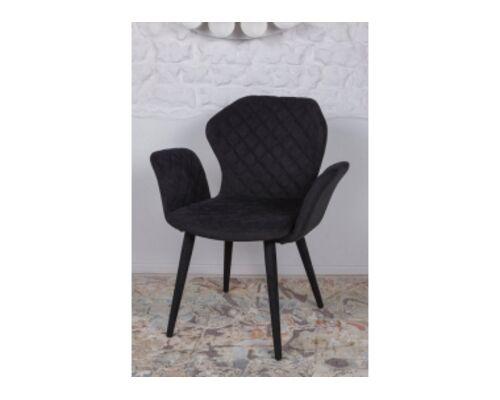 Кресло VALENCIA (60*68*88 cm - текстиль) черный - Фото №1