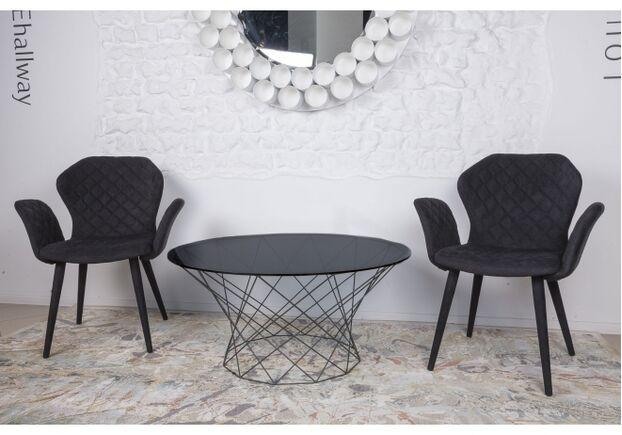 Кресло VALENCIA (60*68*88 cm - текстиль) черный - Фото №2