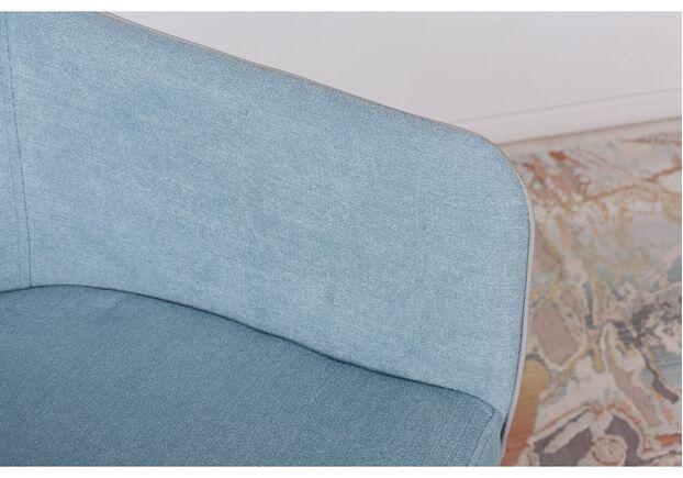 Кресло МAYA (56*60*86 cm - текстиль/экокожа) серо-голубой - Фото №2