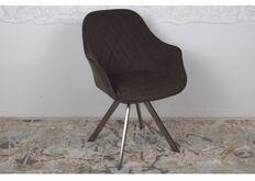 Фото Кресло поворотное ALMERIA (610*605*880 текстиль) коричневый