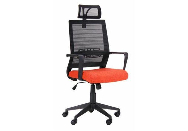 Кресло Radon черный/оранжевый - Фото №1