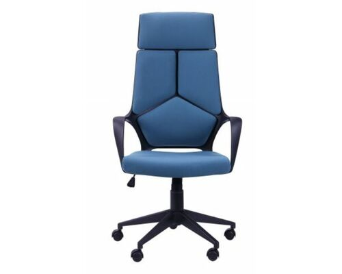 Кресло Urban HB черный, тк. синий - Фото №1