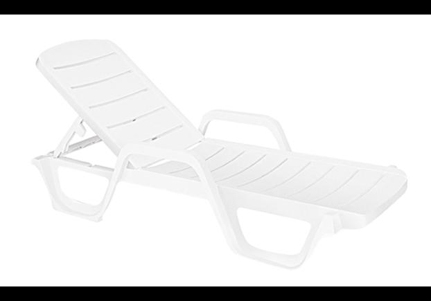 Шезлонг пластиковый Avangarde белый 01 - Фото №1