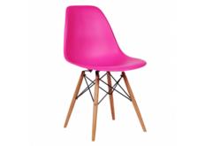 Стул Тауэр Вуд, пластиковый, ножки бук, цвет розовый