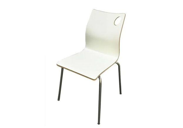Штабелируемый стул Хорека-W гнутая фанера белый - Фото №1