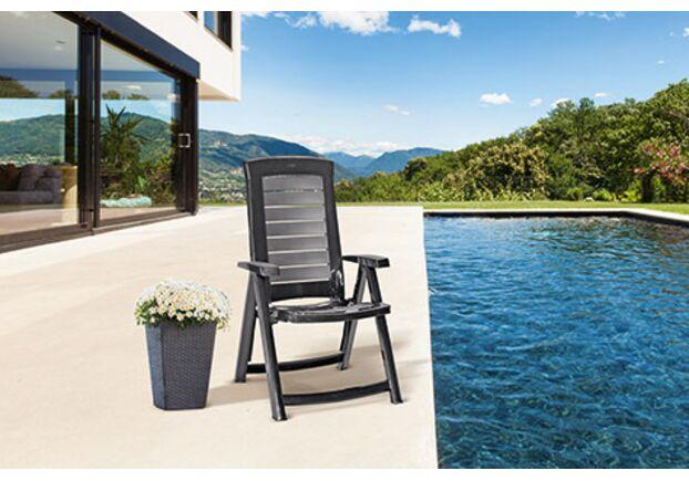 Стул пластиковый для сада Aruba серый - Фото №2
