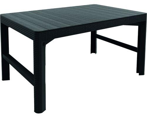 Стол для сада Lyon серый ротанг - Фото №1