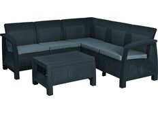 набор мебели для сада в цвете серый графит