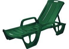 фото темно-зеленый пластиковый шезлонг