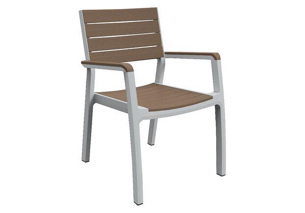 Стул Harmony armchair белый с бежевым - Фото №1