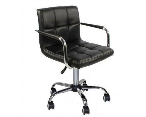 Кресло Артур экокожа на колесиках черное - Фото №1