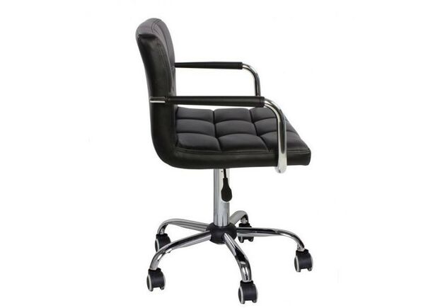 Кресло Артур экокожа на колесиках черное - Фото №2