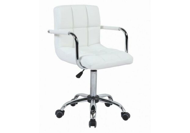 Кресло Артур экокожа на колесиках белое - Фото №1