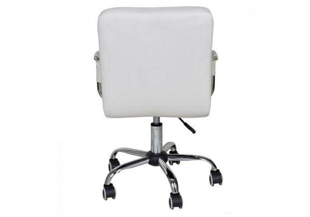 Кресло Артур экокожа на колесиках белое - Фото №2
