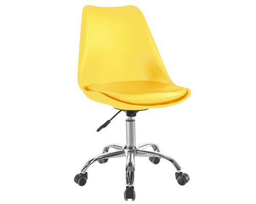 Кресло офисное Астер желтое с подушкой - Фото №1