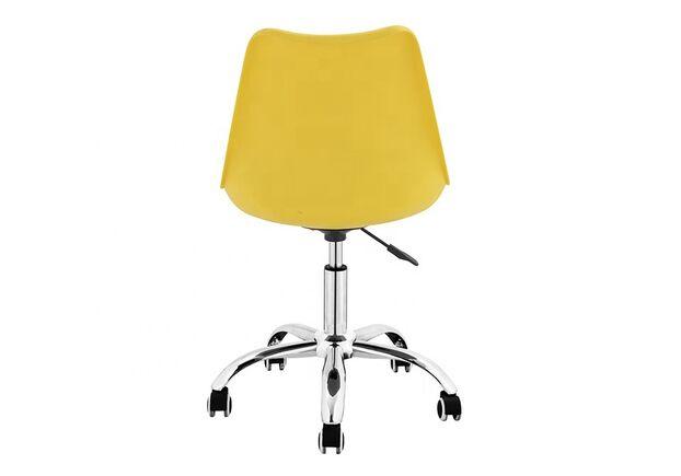 Кресло офисное Астер желтое с подушкой - Фото №2