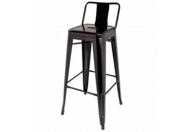 Высокий барный стул Толикс Back металл матовый черный - Фото №1