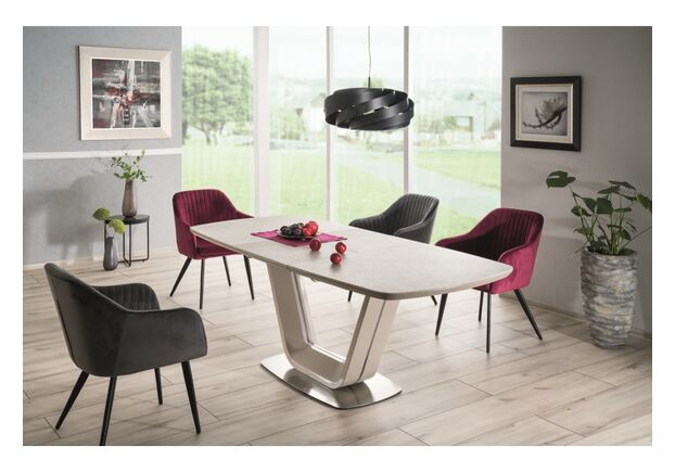 Стол обеденный Signal Armani Ceramic серый мат - Фото №2