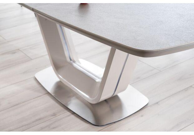 Стол обеденный Signal Armani (1400-2000) белый/кремовый матовый - Фото №2