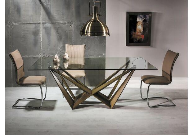 Стол обеденный Aston прозрачный/медь - Фото №2