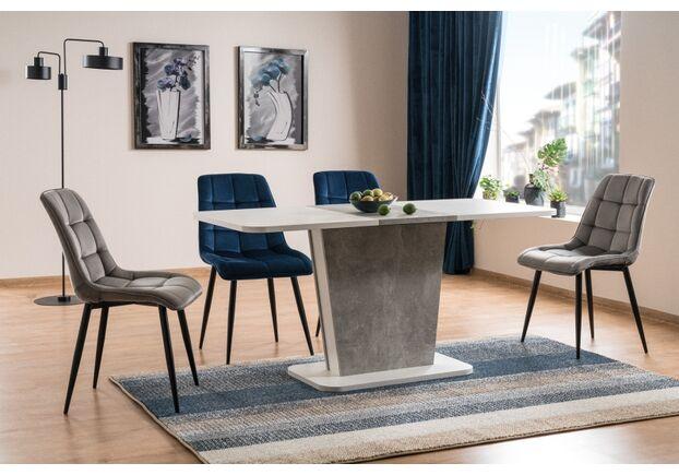 Стол обеденный Calipso белый мат+дуб вотан с эффектом бетона - Фото №2