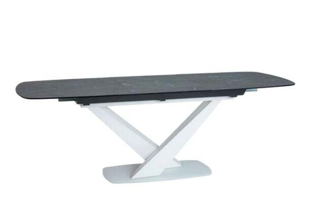 Стол обеденный Cassino II Ceramic графит/белый мрамор - Фото №1