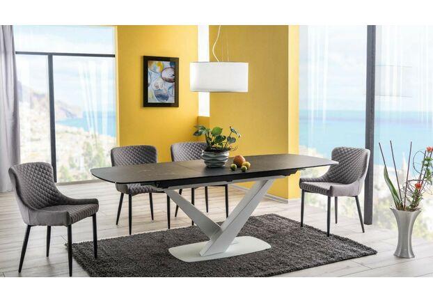 Стол обеденный Cassino II Ceramic графит/белый мрамор - Фото №2