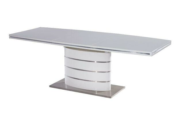 Стол обеденный Fano (80*1200-1800) белый лак - Фото №1