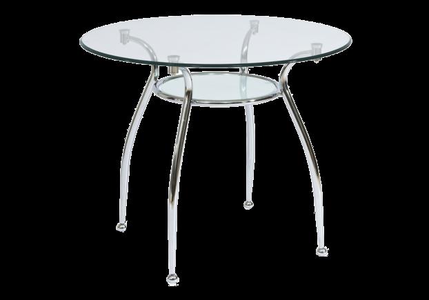 Стол обеденный Finezja (90*75h) прозрачный/серебряный хром - Фото №1