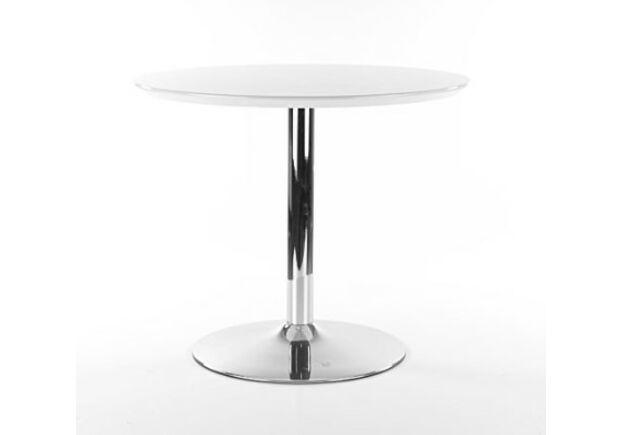 Стол обеденный Flavio белый лак/хром - Фото №1