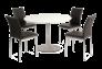 Стол обеденный Flavio белый лак/хром - Фото №2