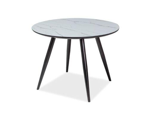 Стол обеденный Ideal белый/черный матовый - Фото №1