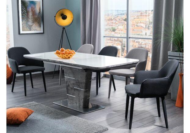 Стол обеденный Ilario белый лак+бетон - Фото №2
