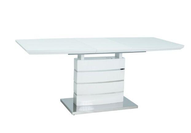Стол обеденный Leonardo (90*1600-2200) белый лак - Фото №1